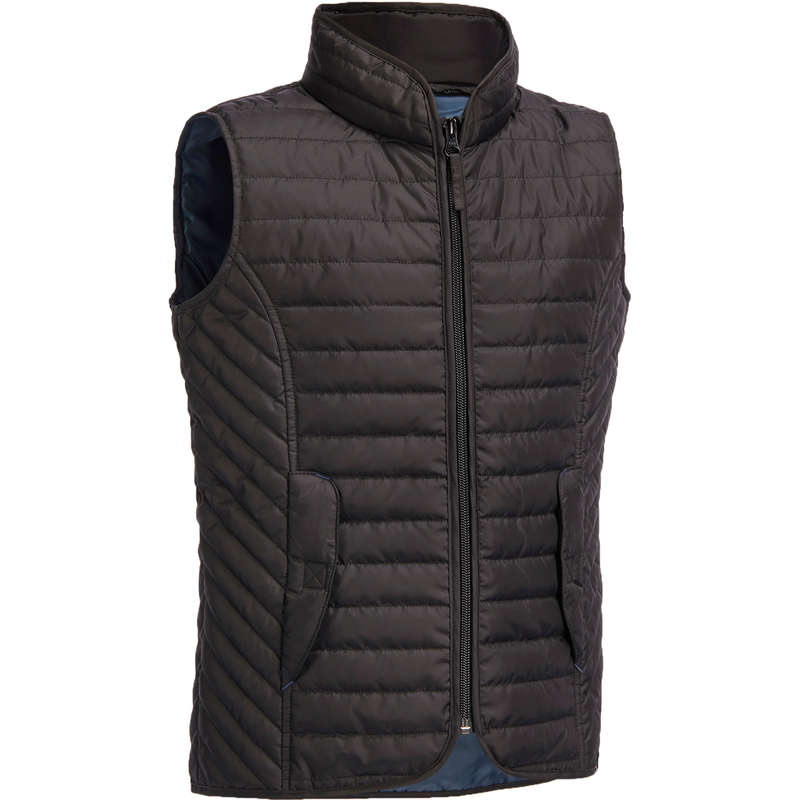 KID RIDING WEAR Horse Riding - 100 Sleeveless Gilet - Black FOUGANZA - Horse Riding