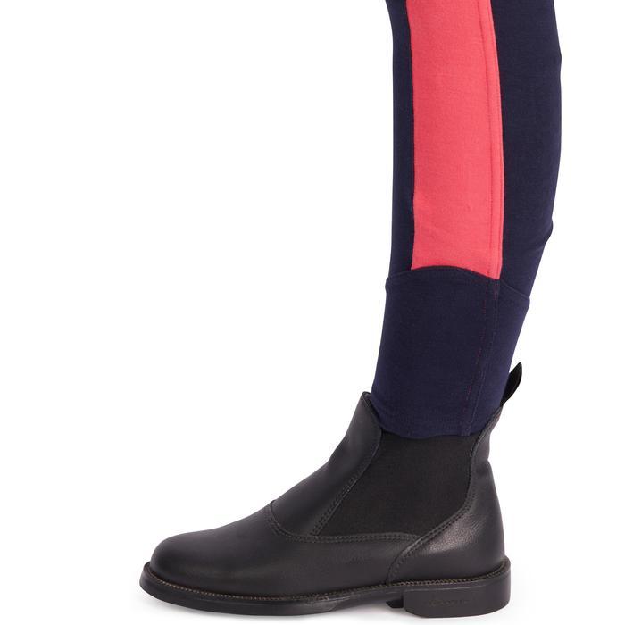 Rijbroek ruitersport meisjes 120 marineblauw/roze