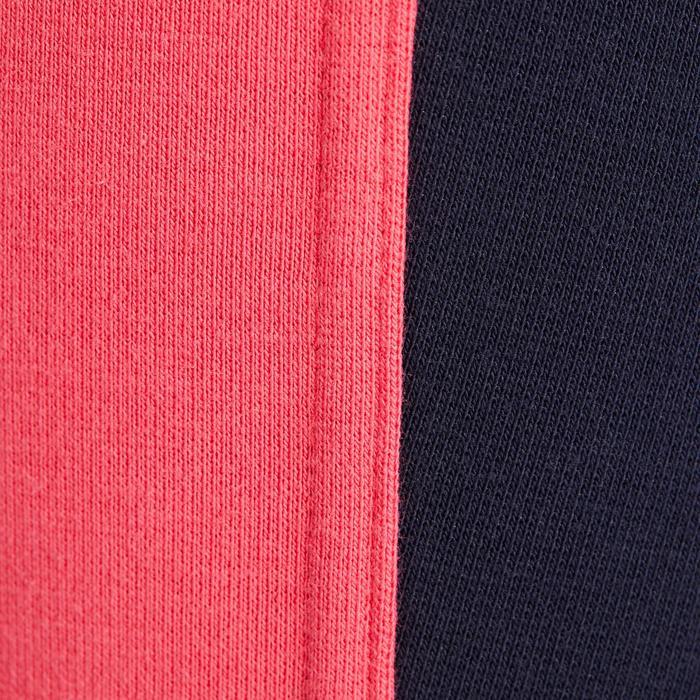 Reithose 120 Kniebesatz Kinder marineblau/rosa
