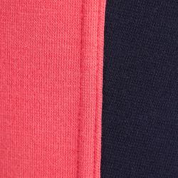 Rijbroek voor kinderen ruitersport 120 marineblauw/roze