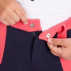 Paardrijbroek voor kinderen ruitersport 120 marineblauw/roze