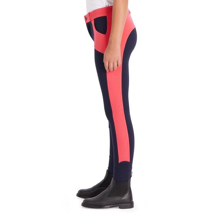 Pantalon équitation enfant 120 marine et rose