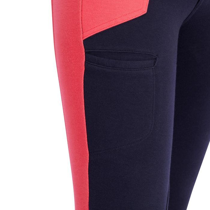 Pantalón equitación niña BR120 azul marino y rosa