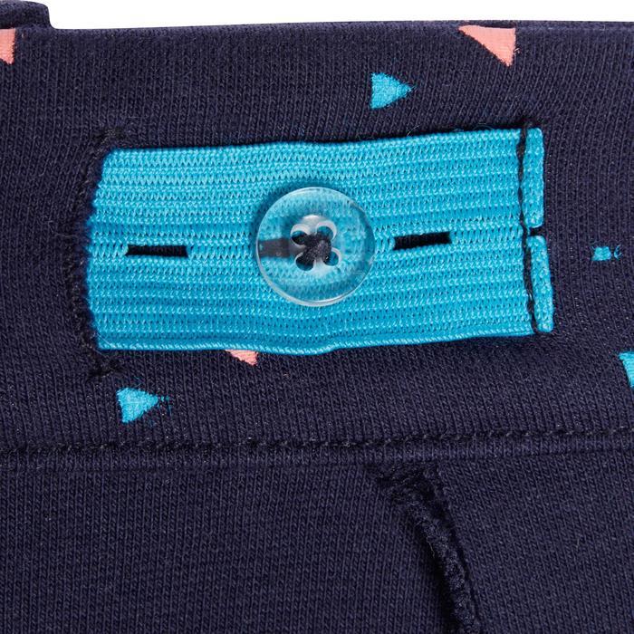 Rijbroek voor meisjes 120 Print marineblauw met roze stippen