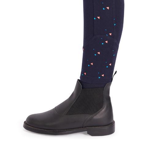 Pantaloni equitazione br120 print ragazza blu fouganza - Cavaliere modello a colori ...
