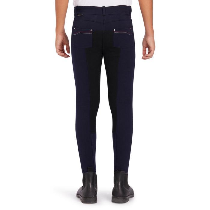 Pantalón badanas equitación niños BR180 fullseat azul marino