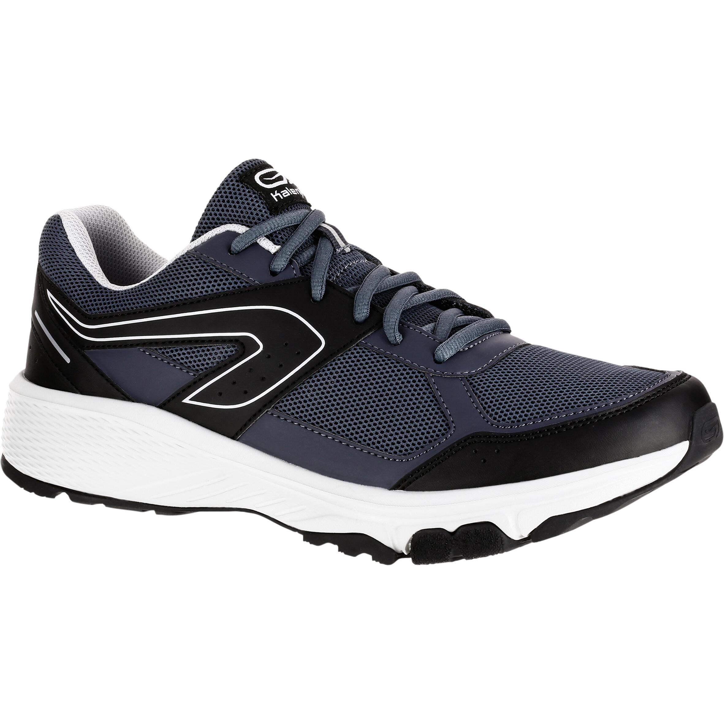 Kalenji Joggingschoenen voor heren Run Active Grip grijs/zwart