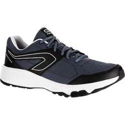 男款慢跑鞋RUN CUSHION GRIP-灰色/黑色