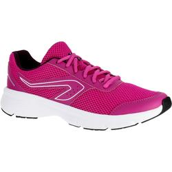 CHAUSSURES JOGGING FEMME RUN CUSHION CORAIL