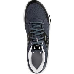RUN CUSHION GRIP MEN'S RUNNING SHOE - GREY/BLACK