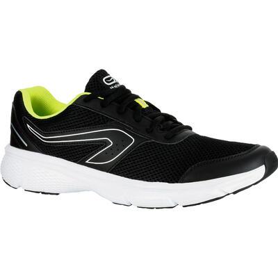 RUN CUSHION MEN S RUNNING SHOE - BLACK YELLOW - Decathlon Sports Megastore 0332eaab6ac4e