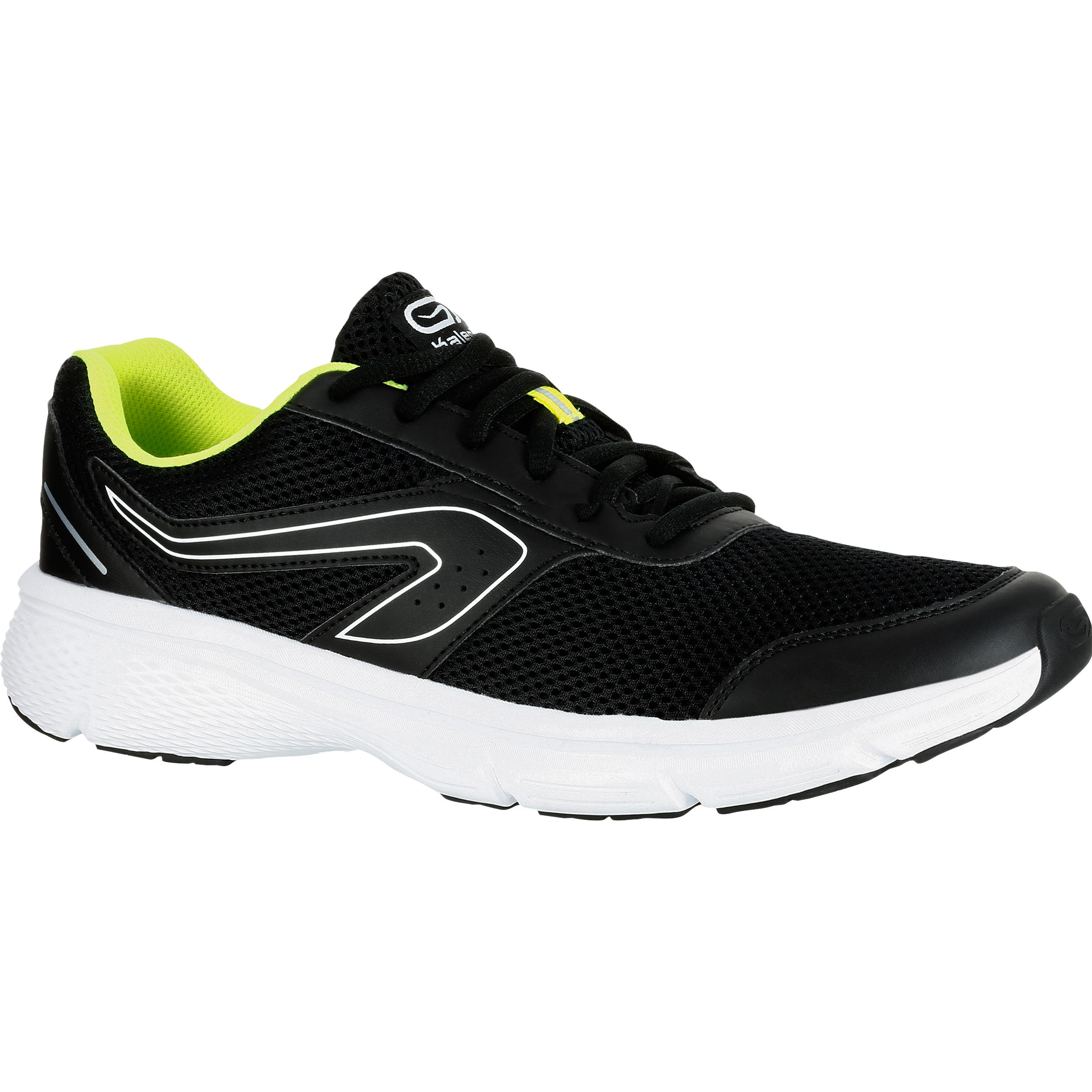 RUN CUSHION MEN'S RUNNING SHOES BLACK YELLOW