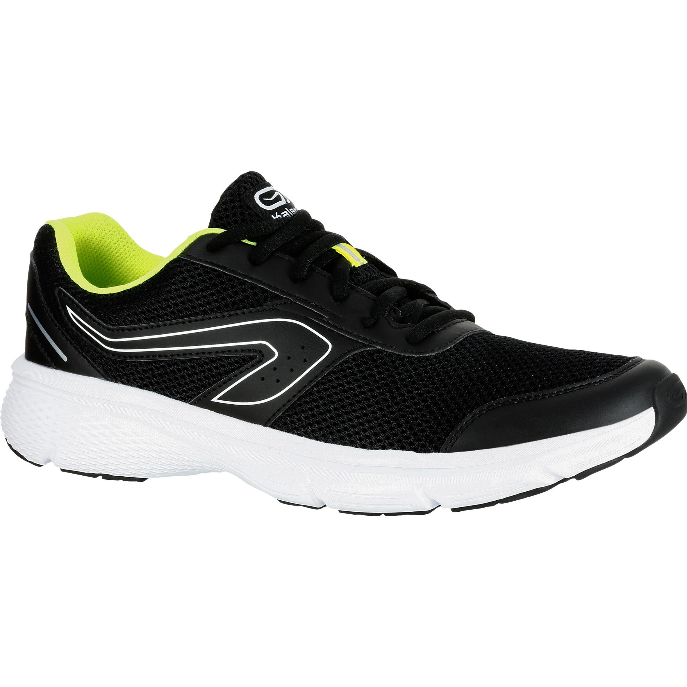 Kalenji Joggingschoenen voor heren Run Cushion Grip zwart/geel