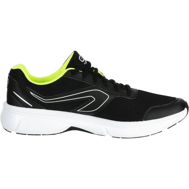 รองเท้าวิ่งสำหรับผู้ชายรุ่น RUN CUSHION (สีดำ/เหลือง)