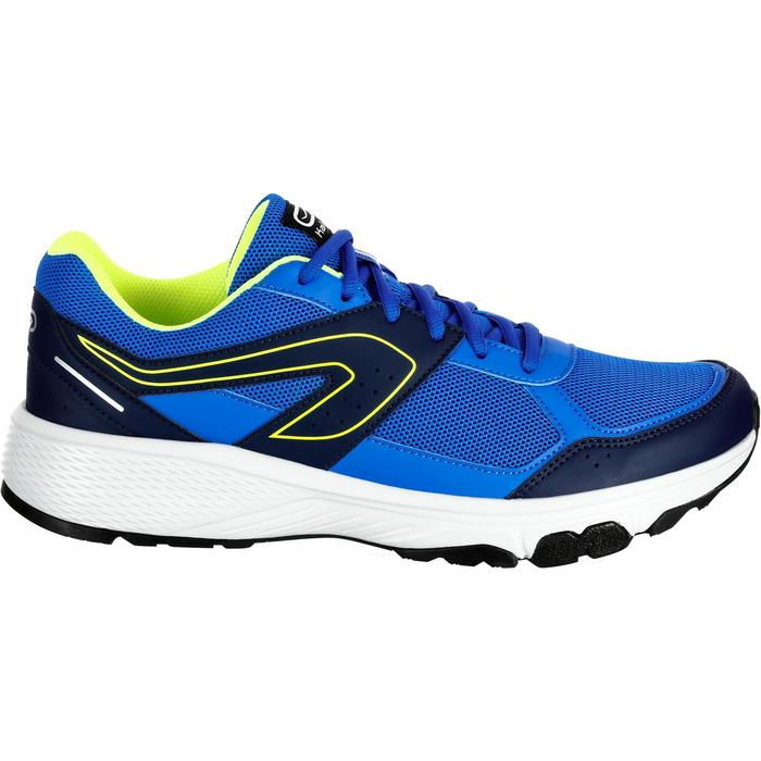 Zapatillas Running Kalenji Run Cushion Grip Hombre Azul Eléctrico/Amarillo
