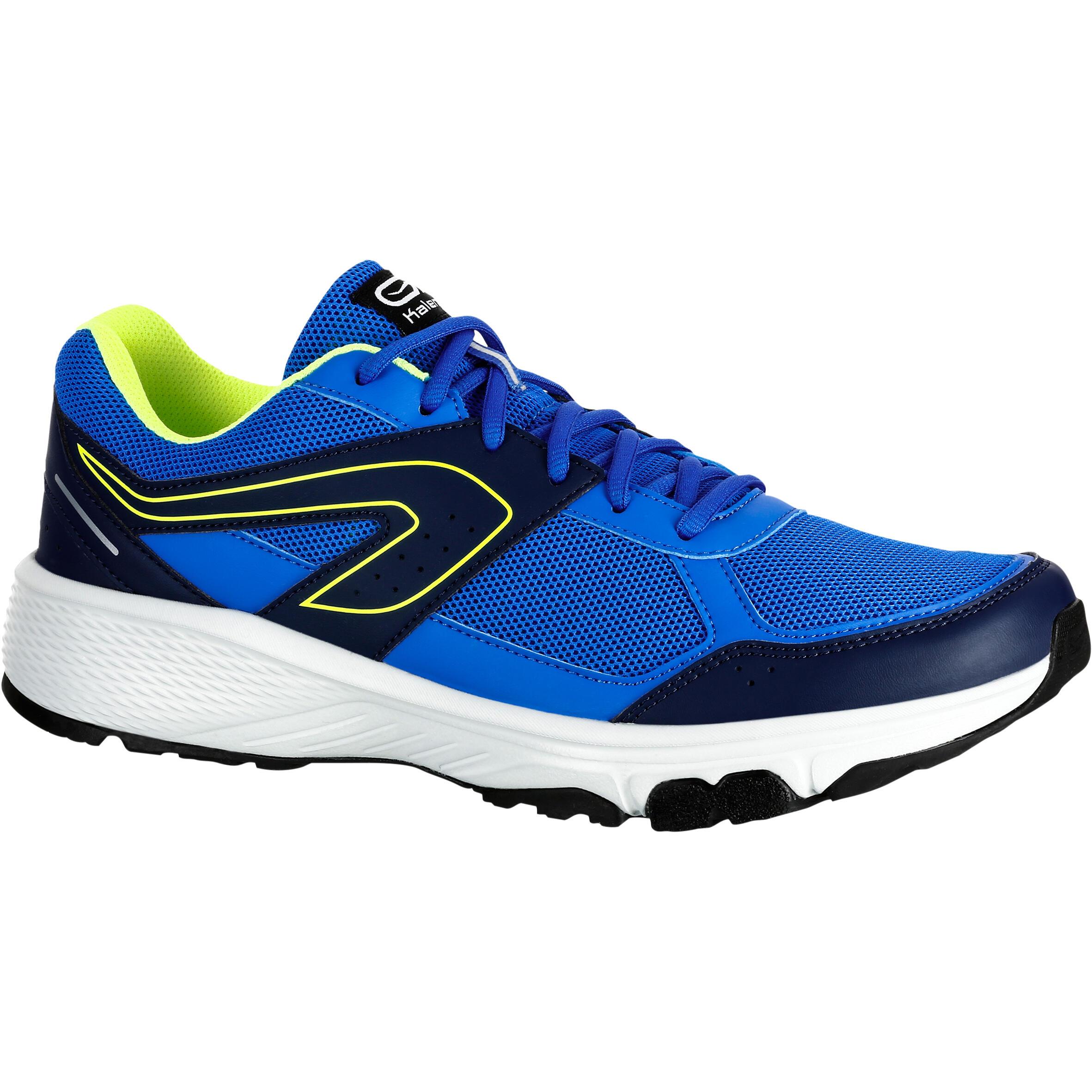 Kalenji Hardloopschoenen voor heren Run Cushion Grip blauw