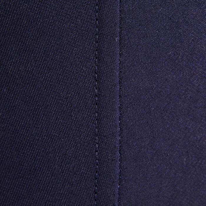 Rijbroek 500 met knie-inzetten in suèdine voor kinderen marineblauw