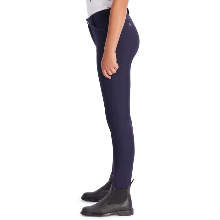 Pantalon équitation enfant 500 basanes suédine marine