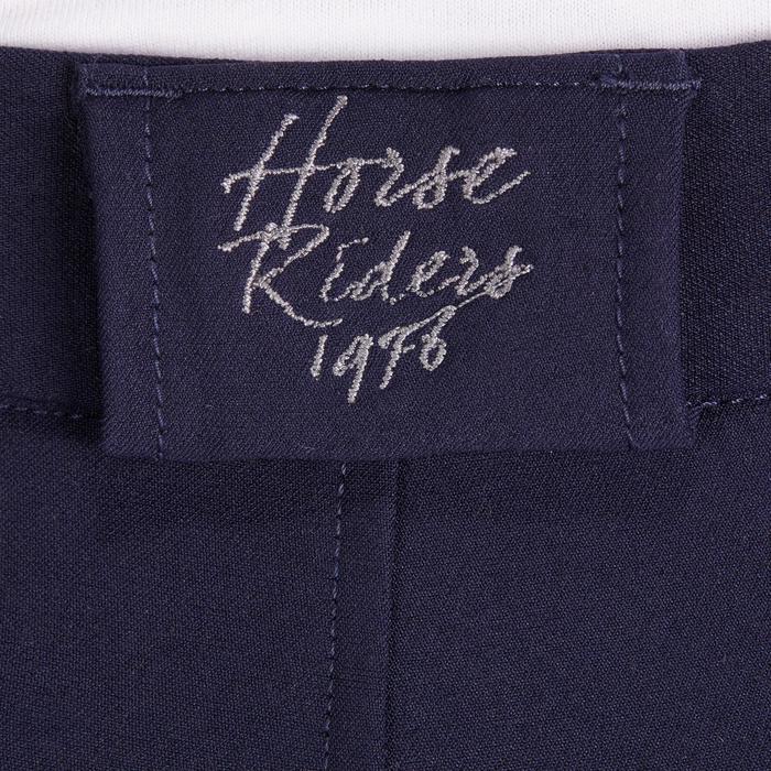 Kinderbroek BR500 met zeem en knie-inzetten, ruitersport, marineblauw