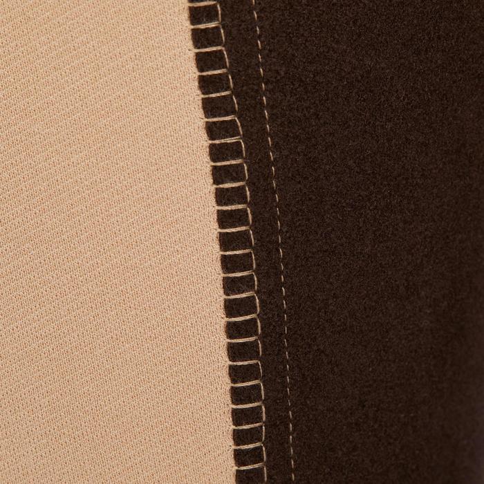 Reithose BR180 Vollbesatz Kunstleder Kinder beige/braun