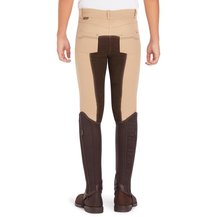 Pantalón badana equitación niños 180 FULLSESAT beige y marrón