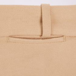 Rijbroek met synthetisch zitvlak voor kinderen 180 Fullseat beige en bruin