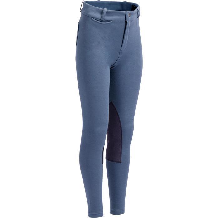 Pantalon équitation enfant 140 basanes gris bleuté