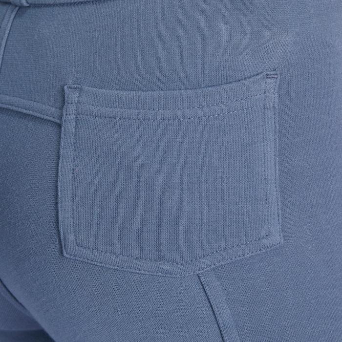 Pantalón equitación niños BR140 badanas gris azulado