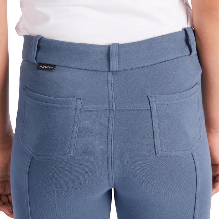 Pantalon équitation enfant BR140 basanes gris bleuté