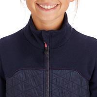 500 Kids' Bi-Material Horse Riding Sweatshirt - Navy