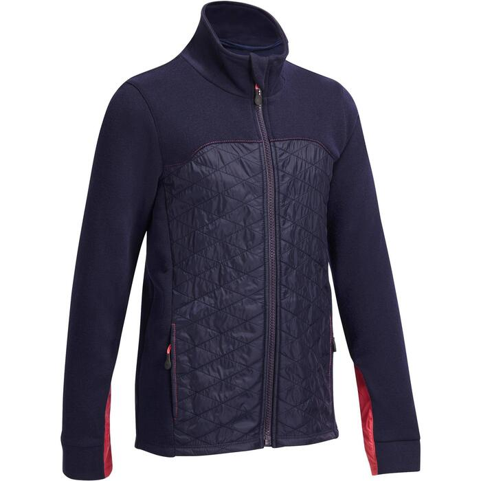 Reit-Sweatjacke 500 Kinder marineblau
