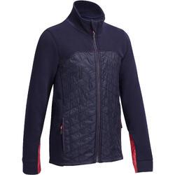 Kindersweater voor jonge ruiters SW500 marineblauw