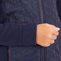 Reit-Sweatjacke 500 Kinder marineblau