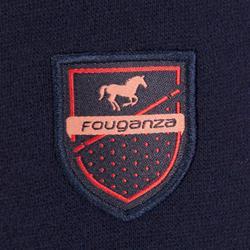Sudadera para equitación niños 2 materiales 500 azul marino