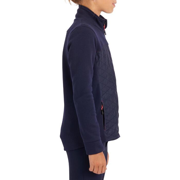 Sweat-shirt équitation enfant SW500 marine
