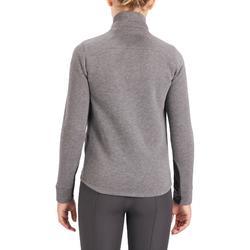 Sweat-shirt équitation enfant bi-matière 500 gris