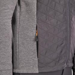 Rijsweater voor kinderen in twee materialen 500 grijs