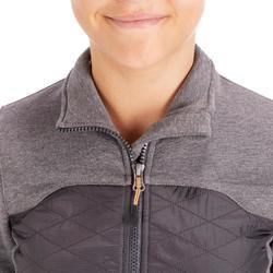 Reit-Sweatjacke 500 Kinder grau