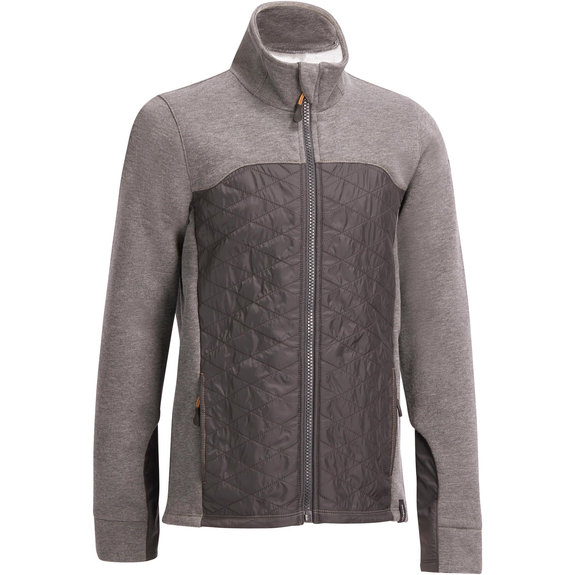 Fouganza Sweatshirt ruitersport kinderen SW500 grijs