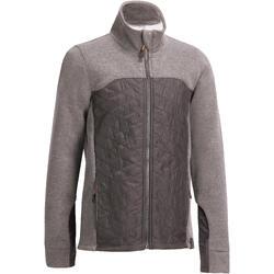Sweatshirt ruitersport kinderen SW500 grijs