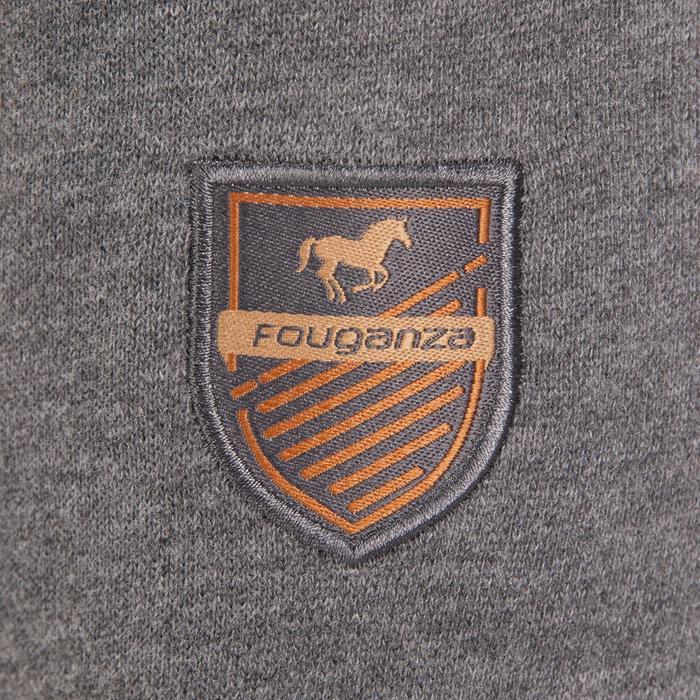 Sweat-shirt équitation enfant SW500 gris