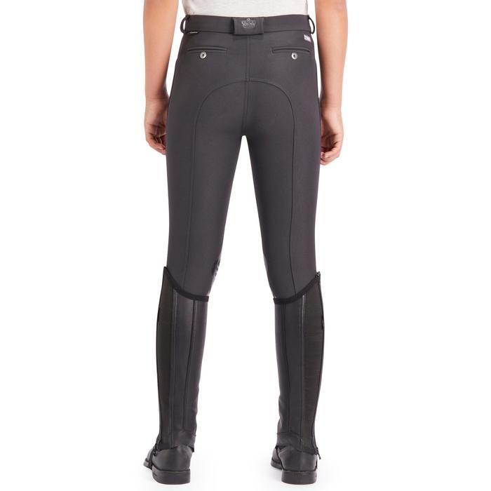 Pantalón equitación niños 560 GRIP badanas silicona gris oscuro