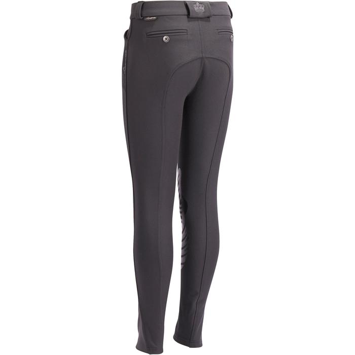 Pantalon équitation enfant BR560 GRIP basanes silicone gris foncé