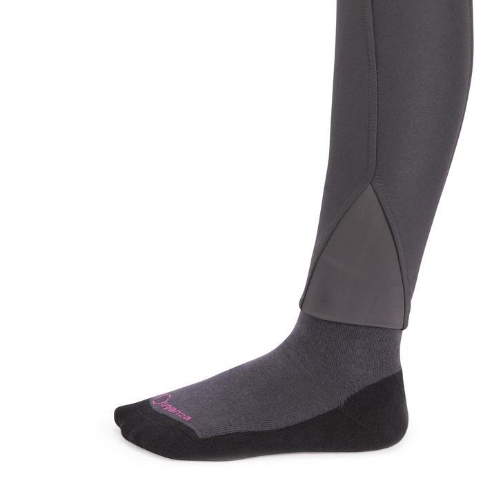 Pantalón equitación niños BR560 GRIP badanas silicona gris oscuro