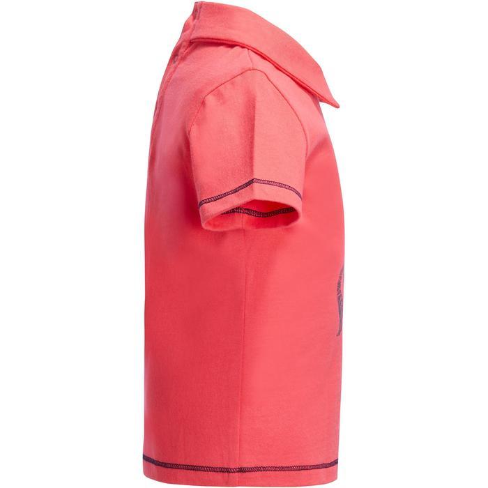 Polo de manga corta equitación bebé PL 100 Rosa