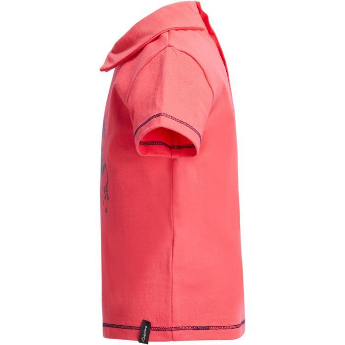Reit-Poloshirt Kurzarm PL100 Baby rosa