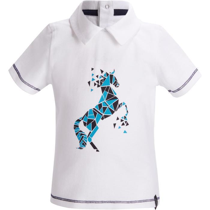 Reit-Poloshirt kurzarm 100 Baby weiß
