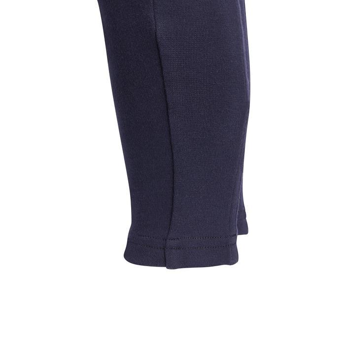 Pantalón Equitación Fouganza 100 Bebé Azul Marino con Badanas de Tela
