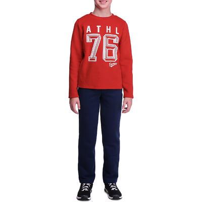 Jogging fitness garçon WARM'Y rouge