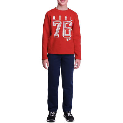 Jogging fitness garçon WARM'Y rouge